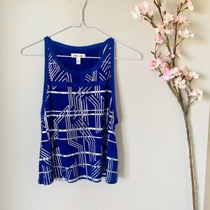 UO / SILENCE AND NOISE BLUE TANK TOP